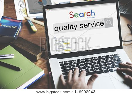 Quality Service Rank Customer Satisfaction Care Concept