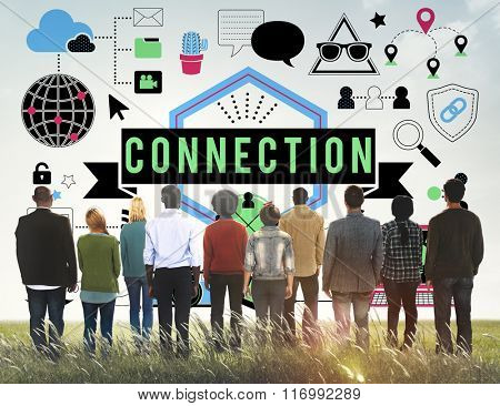 Connection Social Media Networking Communication Togetherness Concept