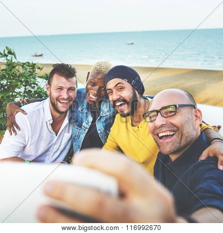 Diversity Friends Selfie Photo Togetherness Concept