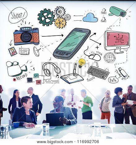 Business Teamwork Planning Meeting Brainstorming Concept