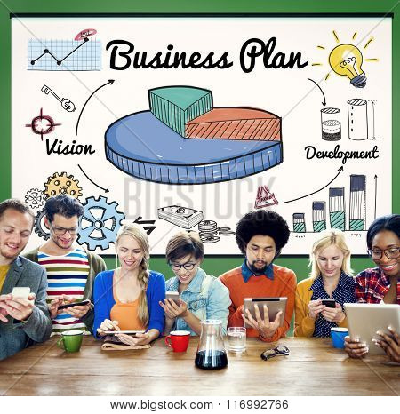 Business Plan Vision Strategy Tactics Planning Concept