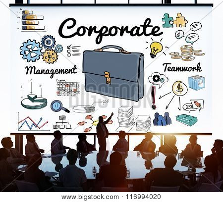 Corporate Business Professional Organization Concept