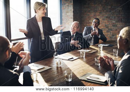 Meeting Corporate Success Brainstorming Teamwork Concept