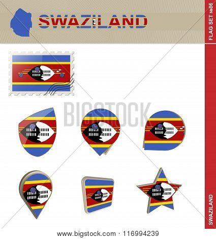 Swaziland Flag Set, Flag Set #86