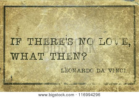 If No Love Davinci