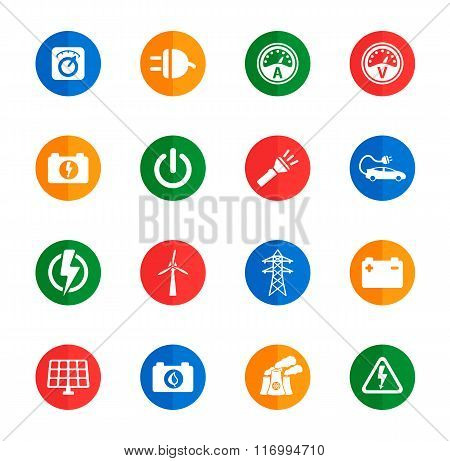 Electricity simply icons