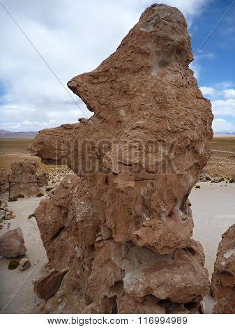 Valle De Las Rocas With Surreal Boulders At Bolivian Altiplano