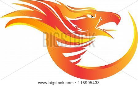 stock logo phoenix head
