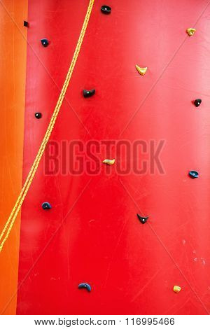 Red Climbing Wall, Leisure Activity