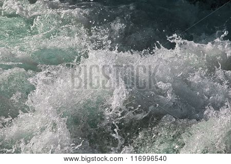 Turbulent river water