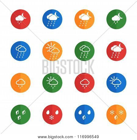 Weather simple vector icons