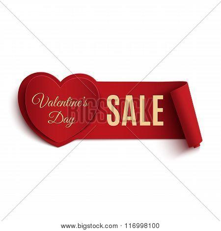 Valentines Day Sale banner.