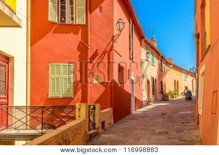Fragment of beautiful street view in Nice, France