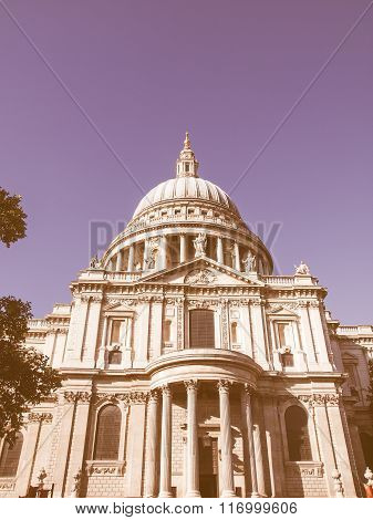 St Paul Cathedral, London Vintage