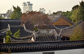 foto of ares  - Ancient Chinese Rooftops Apartment Pan Men Scenic Ares Suzhou Jiangsu China  Resubmit - JPG