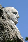 stock photo of mount rushmore national memorial  - Carving of George Washington - JPG