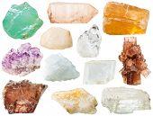 Постер, плакат: Various Transparent Mineral Rocks And Stones