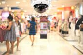 Cctv Camera Spy On The Shopping Mall. poster