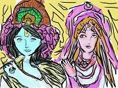 stock photo of radha  - Krishna Vedic East Religion Beauty Divinity Spirit Hare - JPG