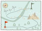 Постер, плакат: Illustration of creative treasure map flat winter design