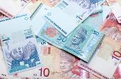image of ringgit  - Close up Malaysia ringgit of 1 10 and 50 - JPG