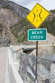 foto of mear  - bridge over bear creek falls a historic point on the million dollar highway formerly otto mears - JPG