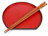 Chopsticks And Plate