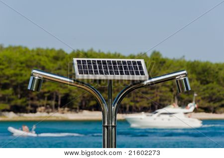 Solar, Hot Water Shower On The Seaside