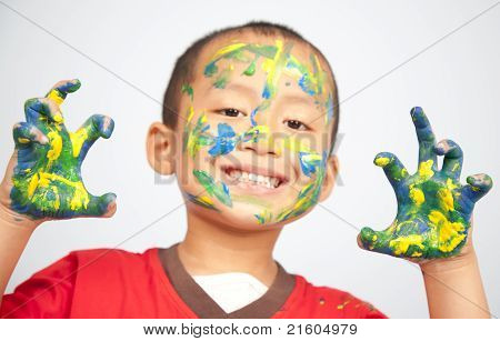 Kids Playing With Paint