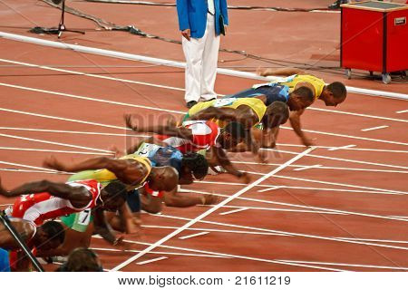 Start Of Mens 100 Meter Sprint