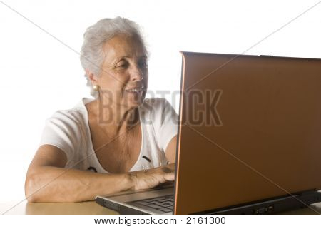 Senior Woman On Laptop