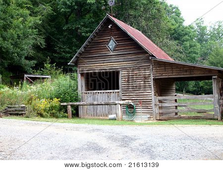 Old Wooden Country Barn