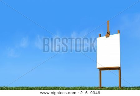Artist Easel On Grass