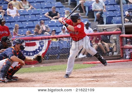 Portland Sea Dogs batter Tim Federowicz swings