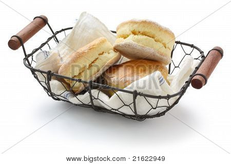 homemade scones in a basket
