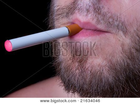 Electronic cigaret in lips