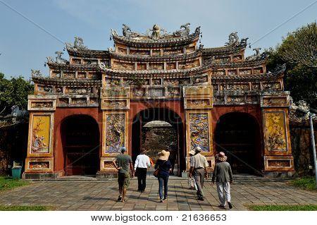 Gate to Hien Lam Pavilion