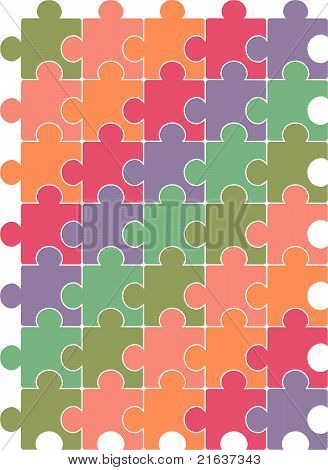 Puzzle pattern vector design template.
