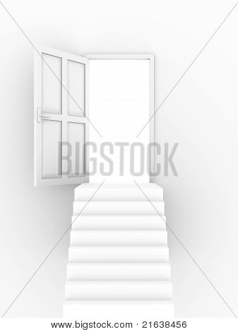 Open Door Stairs