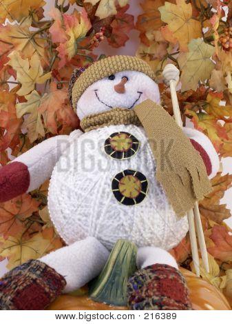 Fall Snowman Relaxes