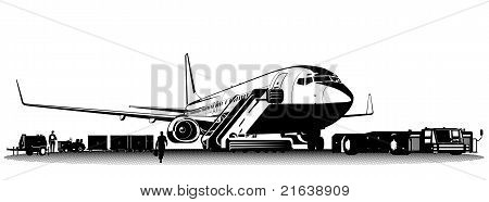 Vector passenger airliner