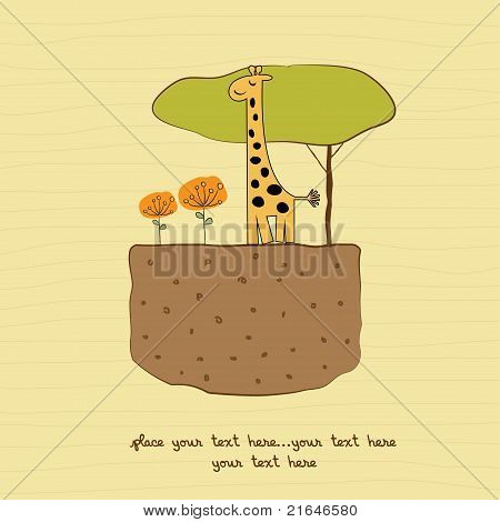 one little giraffe