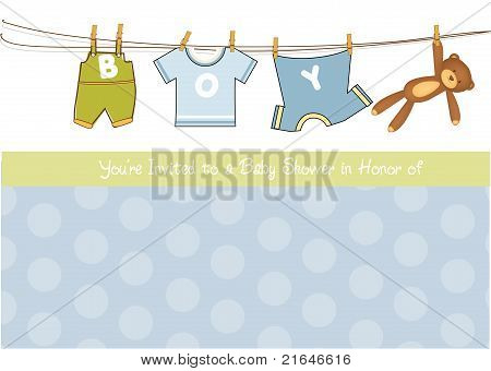 baby boy shower announcement card
