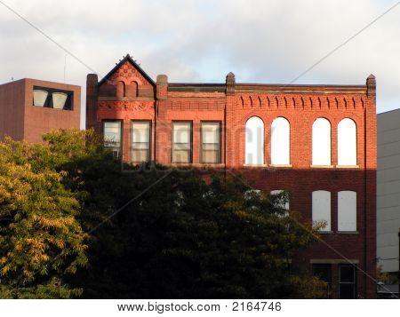 Unique Old Red Brick Building