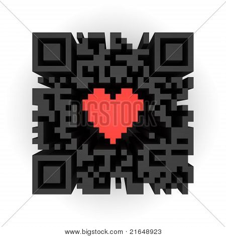 Corazón en QR-code