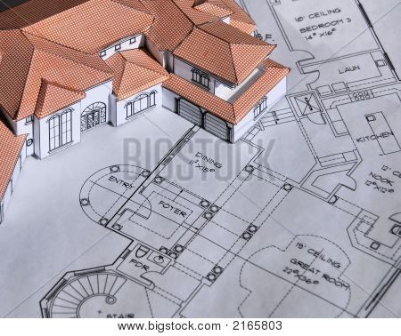 Model House And Blueprints