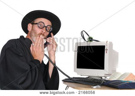Priest On Phone