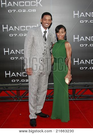LOS ANGELES - JUN 30: Will Smith and Jada Pinkett Smith at the premiere of 'Hancock' in Los Angeles, California on June 30, 2008