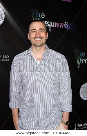 LOS ANGELES - 6 de JUL: Jay Giannone chegando no Dreamworld Benefit Concert para cair pios um