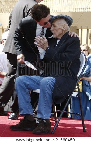 LOS ANGELES - MAR 26: Mark Canton, Dennis Hopper at a ceremony where Dennis Hopper receives a star on the Hollywood Walk of Fame in Los Angeles, California on March 26, 2010